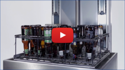 video of the bottle cleaner