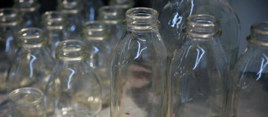 dairy milk glass bottles